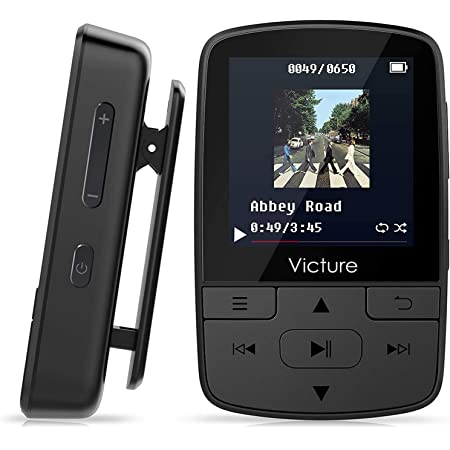 Victure MP3 Player Clip Bluetooth 8G FM Radio Portable Music Player for Running Sport Pedometer Voice Recorder Lossless Earphones Expandable up to 128GB