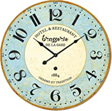 Generic Retro Ancient Style Digital Wall Clock, Light Blue, 60 cm, Hlz1F296