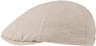Schirmm/ütze Melierte Schieberm/ütze aus Leinen Schirml/änge 5 cm M/ütze Sommer//Winter Stetson Texas Warnerville Linen Flatcap Herren - Sommercap mit UV-Schutz Made in EU