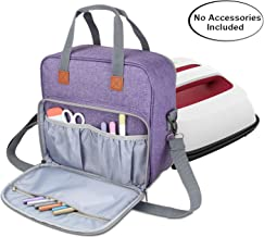 Luxja Carrying Case Compatible with Cricut Easy Press (9 inches x 9 inches), Tote Bag Compatible with Cricut Easy Press and Supplies (Bag Only, Patent Pending), Purple