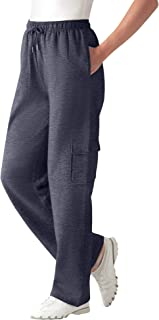 Women's Plus Size Petite Better Fleece Cargo Sweatpant Pant