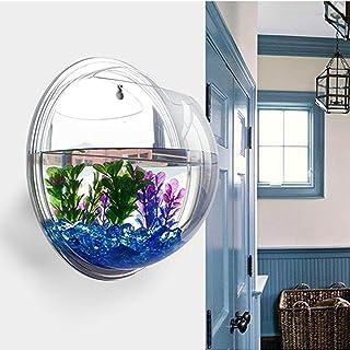 Sotoboo - Macetero de pared para colgar - hecho de acrílico transparente - ideal como jarrón de flores, plantas, pecera o acuario - para decoración del hogar y oficina, transparente, 29.5cm