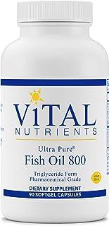 Vital Nutrients - Ultra Pure Fish Oil 800 Triglyceride Form (Pharmaceutical Grade) - Hi-Potency Wild Caught Deep Sea Fish ...