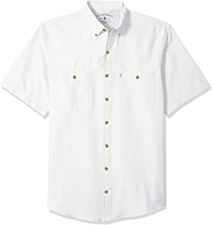 G.H. Bass & Co. Men's Big and Tall Explorer Short Sleeve Button Down Fishing Shirt