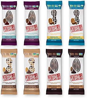 Perfect Bar Original Refrigerated Protein Bar, Chocolate Variety Pack Peanut Butter & Almond Butter, 10-15g Whole Food Protein, Gluten Free, Soy Free & Non-GMO, 2.2-2.3 Oz. Bars (8 Bars)