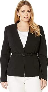 Calvin Klein Women's Belted Crepe Jacket