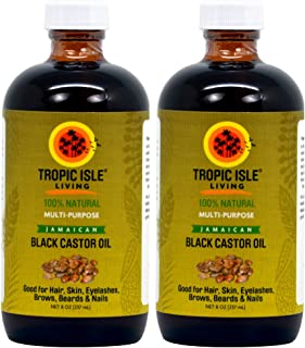 "Tropic Isle Living Jamaican Black Castor Oil 8oz ""Pack of 2"""