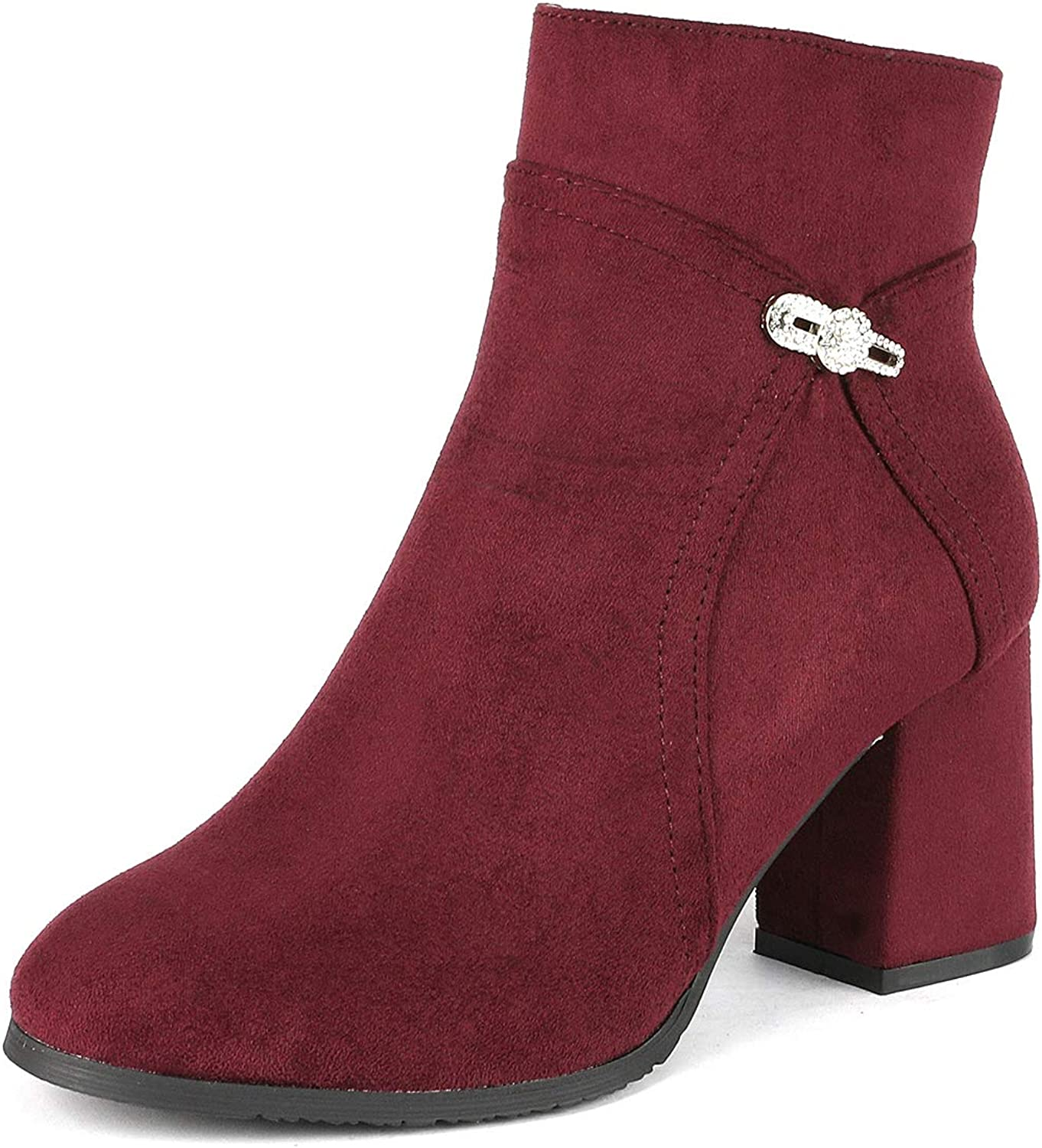 DREAM PAIRS Women's Mimi High Heel Ankle Boots