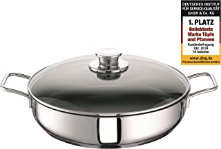 Schulte-Ufer Frying Pan Green Life, incl. Lid, Baking Pan, Stainless Steel 18/10, 32 cm, 6873-983-32 i