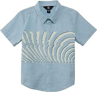 Volcom Boys' Little Blocked Short Sleeve Button Up Woven Shirt Youth