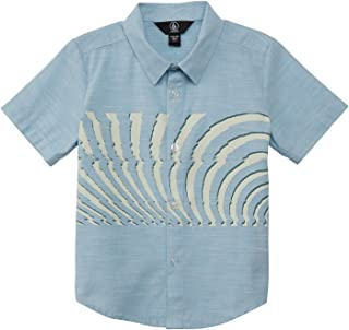 Volcom Boys' Little Blocked Short Sleeve Button Up Woven Shirt Youth