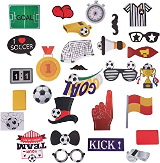LUOEM 29 Pack Football Photo Booth Props Kit Sports Party Photo Booth Props Super Bowl Party Games Ideas for Football Party Decorations Supplies