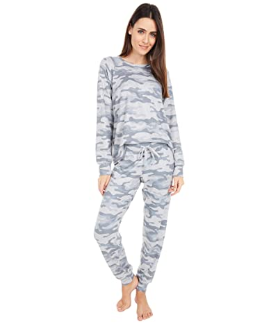 P.J. Salvage Printed Peachy Lounge Set (Heather Light Grey) Women