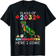 Son Boy Kid T-rex Kindergarten Here I Come Class of 2032 T-Shirt