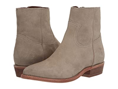 Frye Billy Inside Zip Bootie (Light Grey Hairy Suede) Women