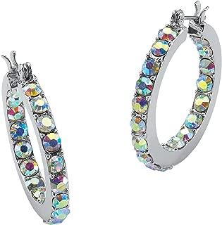 aurora borealis hoop earrings
