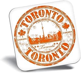 Destination Vinyl ltd Awesome Fridge Magnet - Toronto Canada Travel Map Stamp 5828
