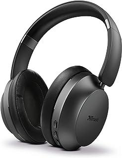 Trust Mobile Eaze Kablosuz Kulak Üstü Bluetooth Kulaklık (25 Saat Çalma Süresi, 10 m Menzil, Kablosuz, 40 mm Sürücü, Katla...