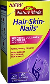 Nature Made Hair, Skin, Nails, 60 Softgels (Pack of 2)