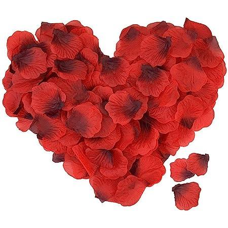 ASANMU 4000 Piezas Pétalos de Rosa, Petalos de Rosa Rojos Artificiales Pétalos de Rosa para día de San Valentín Decoración/Bodas Decoración/Fiestas/Ambiente Romántico/Proponer/Fores de Boda/Confeti