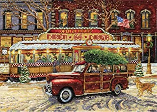 Design Works Route 66 Christmas Counted Cross-Stitch Kit