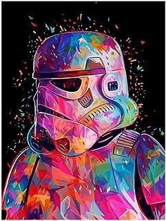 Pintura sin marco por números Diy Star Wars Attack Figure Wall Art Picture Pintura acrílica para decoración del hogar Wall Art 40x50cm