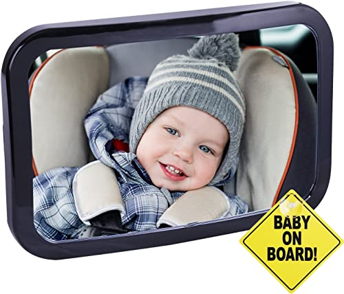 2021 Cartman Baby Car 2021 Mirror, Safety Car Seat Mirror for Rear Facing Infant with Wide Crystal Clear View, Shatterproof, Fully Assembled, Crash discount Tested and Certified sale
