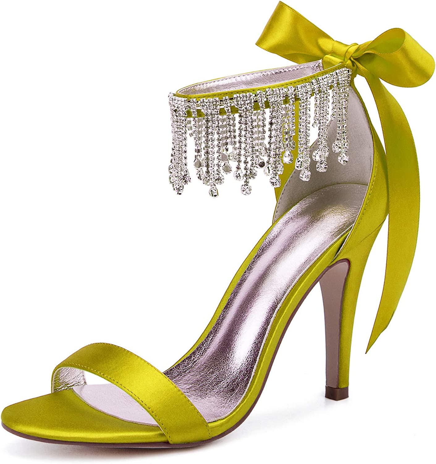 LLBubble Wedding Heels for List price Bride Crystals Tassel New sales Evening Pa Prom