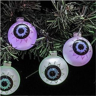 Kurt S. Adler 10 Green and Purple LED Eyeball Novelty Light Set, Multi