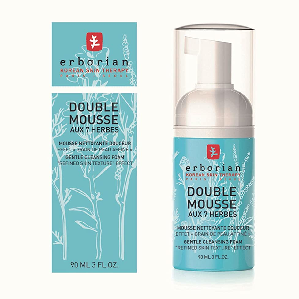 可能性のヒープ基準Erborian Double Mousse Gentle Cleansing Foam 90ml [並行輸入品]