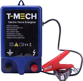 T-Mech - Alimentador de Cercas Eléctricas para Animales 10000V Pastor Alimentado por Batería 12v