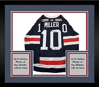 Framed J.T. Miller Signed New York Rangers 2018 NHL Winter Classic Jersey - Steiner Sports Certified