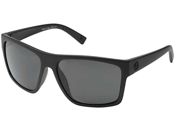 VonZipper Dipstick (Black Satin/Grey) Sport Sunglasses