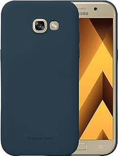 Samsung Galaxy A7 2017 Molan Cano Flexible Matte Silicone Soft Back Case - Navy