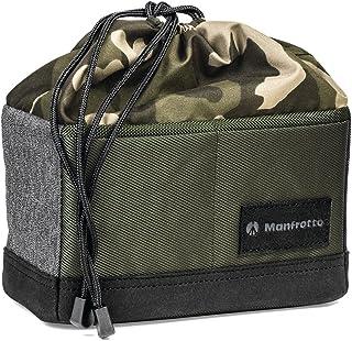 Manfrotto Street - Estuche elegante para cámara CSC (apertura superior plegable, ideal como bolsa personal, divisores extraíbles) verde y negro