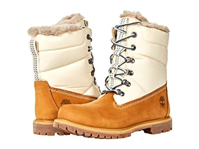 Timberland Premium Leather and Fabric Puffer Waterproof Boot