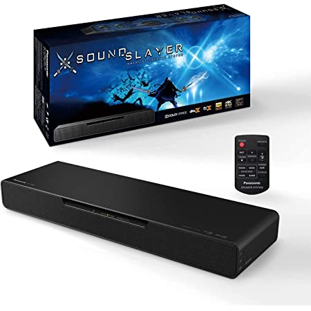 Panasonic SoundSlayer Gaming Soundbar, Dolby Atmos Gaming Speakers for PC and Home Theater, Built-in Subwoofer, Designed with Final Fantasy XIV Online Team for Breakthrough Sound – SC-HTB01PP (Black)