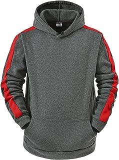 Dasongff - Sudadera con capucha para hombre, diseño patchwork con capucha, chándal deportivo para otoño e invierno