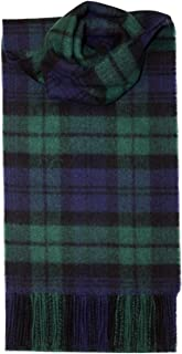 iLuv Black Watch Tartan Scarf Modern Lambswool