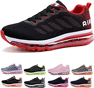 5cdf98ae63467 Homme Femme Air Baskets Chaussures Gym Fitness Sport Sneakers Style Running  Multicolore Respirante