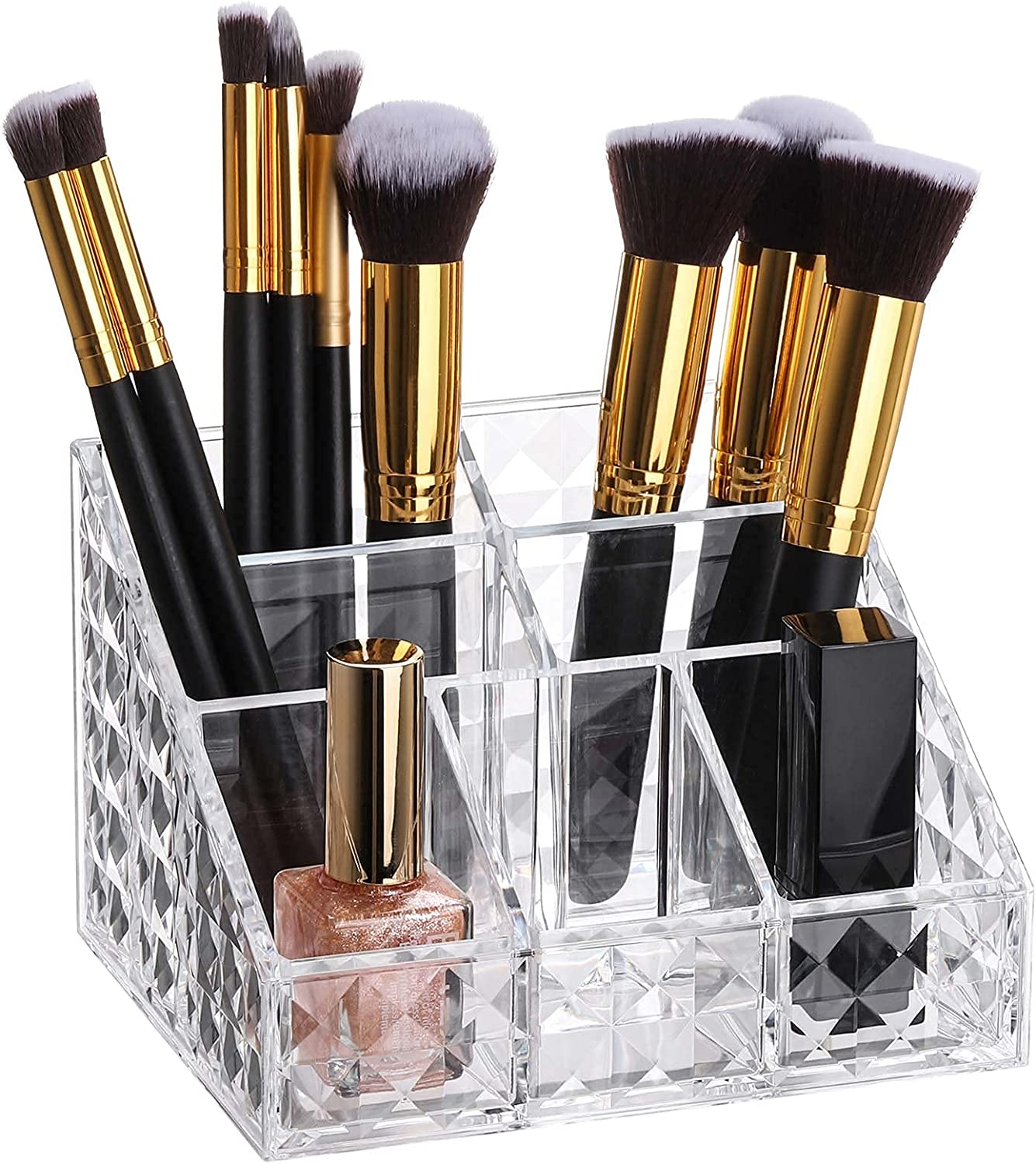 Clear Special Campaign Makeup Organizer Brush Overseas parallel import regular item 7-Compartment Cosmetics Holders Dis