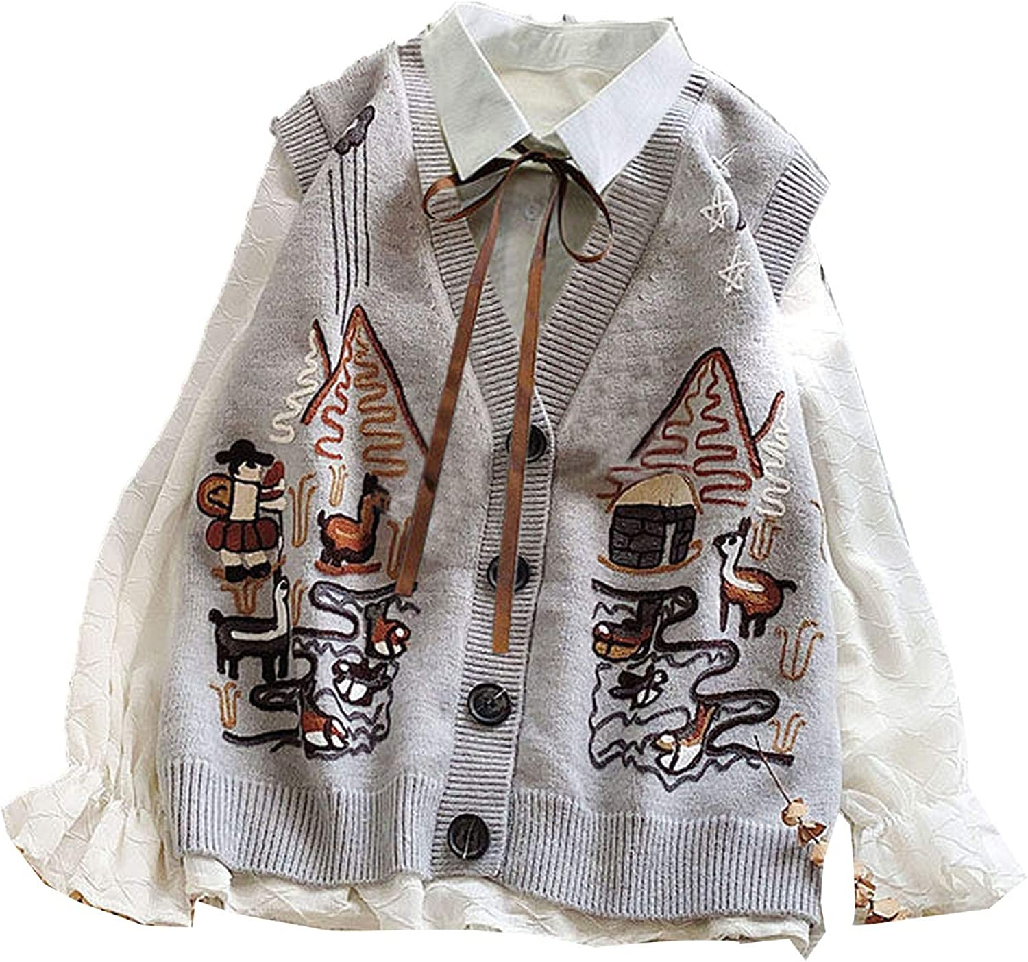 Everybody Let's Rock Sweater Vest Women Chic Trendy Clothes Popular Autumn Sleeveless Knitwear