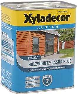 Xyladecor Holzschutz-Lasur Plus wasserbasierte Holzlasur für aussen 0,75L, nussbaum