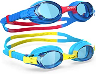 ZABERT K20 Swimming Goggles for Kids Girls Boys Age 3-12 Years Old, Anti-fog 100% UV Protection with Travel Bag