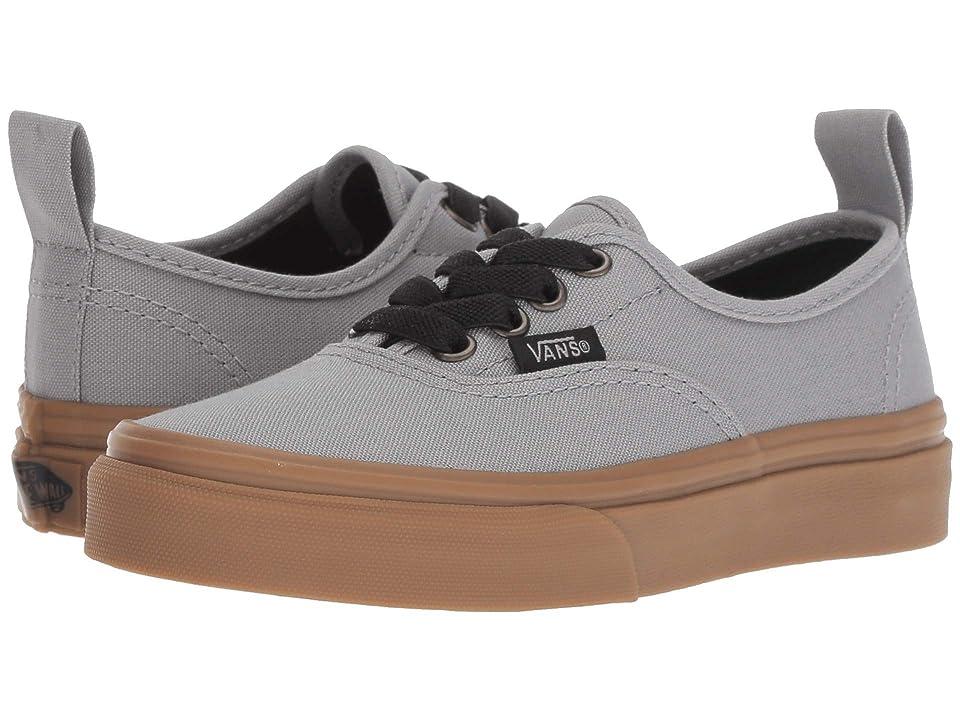 Vans Kids Authentic Elastic Lace (Little Kid/Big Kid) ((Gum Outsole) Alloy/Black) Boys Shoes
