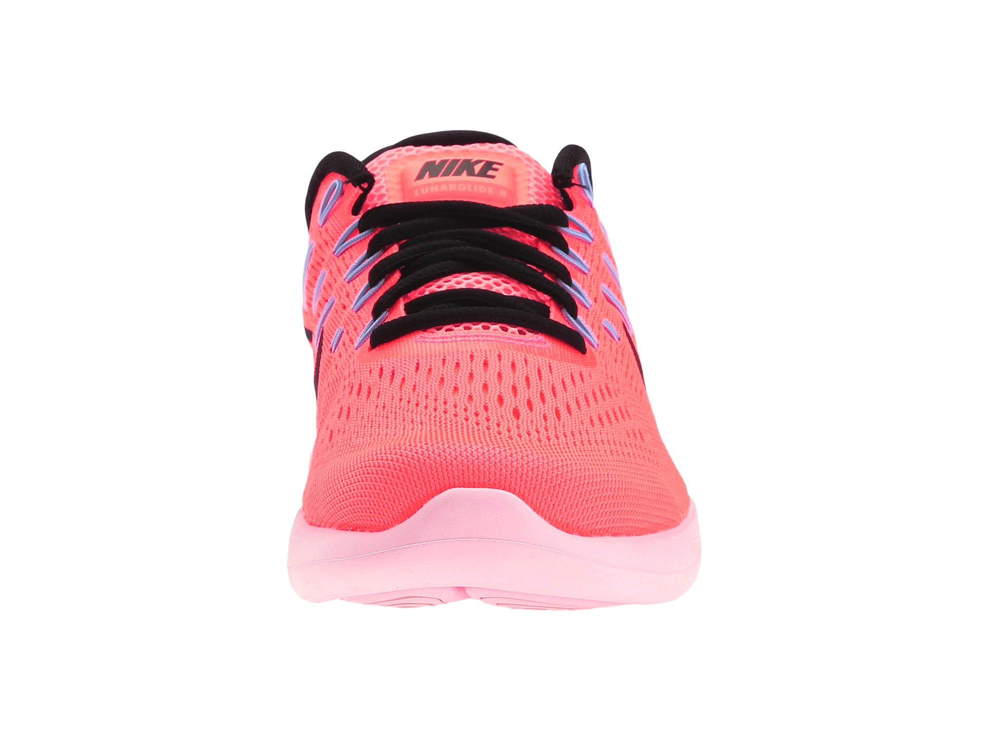 Nike Lunar Glide Hot Pink Black And Green Athletic Shoes