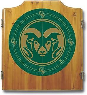 NCAA Colorado State University Wood Dart Cabinet Set