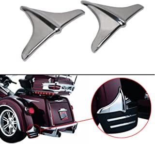 Motorcycle Rear Fender Accents Leading Front Edge Lip Trim For Harley Tri Glide Ultra Classics FLHTCUTG Street Glide Trikes FLHXXX (Chrome)
