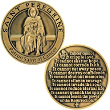 St Peregrine Patron Saint of Cancer Cure Coin, Bronze Token Deluxe, Hope Pray