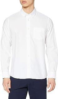 Marca Amazon - find. Camisa de Manga Larga de Algodón Hombre